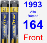 Front Wiper Blade Pack for 1993 Alfa Romeo 164 - Assurance