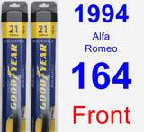 Front Wiper Blade Pack for 1994 Alfa Romeo 164 - Assurance