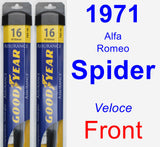 Front Wiper Blade Pack for 1971 Alfa Romeo Spider - Assurance