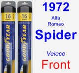 Front Wiper Blade Pack for 1972 Alfa Romeo Spider - Assurance