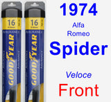 Front Wiper Blade Pack for 1974 Alfa Romeo Spider - Assurance