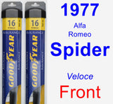 Front Wiper Blade Pack for 1977 Alfa Romeo Spider - Assurance