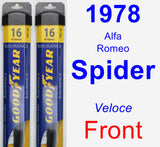 Front Wiper Blade Pack for 1978 Alfa Romeo Spider - Assurance