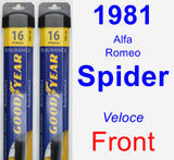 Front Wiper Blade Pack for 1981 Alfa Romeo Spider - Assurance