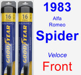 Front Wiper Blade Pack for 1983 Alfa Romeo Spider - Assurance