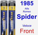 Front Wiper Blade Pack for 1985 Alfa Romeo Spider - Assurance