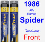 Front Wiper Blade Pack for 1986 Alfa Romeo Spider - Assurance