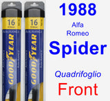 Front Wiper Blade Pack for 1988 Alfa Romeo Spider - Assurance