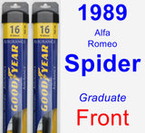 Front Wiper Blade Pack for 1989 Alfa Romeo Spider - Assurance