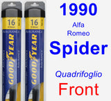 Front Wiper Blade Pack for 1990 Alfa Romeo Spider - Assurance