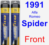 Front Wiper Blade Pack for 1991 Alfa Romeo Spider - Assurance