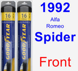 Front Wiper Blade Pack for 1992 Alfa Romeo Spider - Assurance
