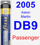 Passenger Wiper Blade for 2005 Aston Martin DB9 - Assurance