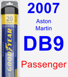 Passenger Wiper Blade for 2007 Aston Martin DB9 - Assurance