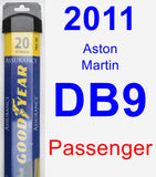 Passenger Wiper Blade for 2011 Aston Martin DB9 - Assurance