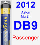 Passenger Wiper Blade for 2012 Aston Martin DB9 - Assurance