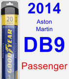 Passenger Wiper Blade for 2014 Aston Martin DB9 - Assurance