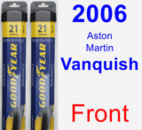 Front Wiper Blade Pack for 2006 Aston Martin Vanquish - Assurance
