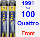 Front Wiper Blade Pack for 1991 Audi 100 Quattro - Assurance