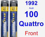 Front Wiper Blade Pack for 1992 Audi 100 Quattro - Assurance