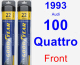 Front Wiper Blade Pack for 1993 Audi 100 Quattro - Assurance