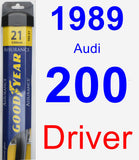 Driver Wiper Blade for 1989 Audi 200 - Assurance