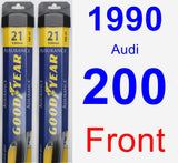 Front Wiper Blade Pack for 1990 Audi 200 - Assurance