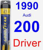 Driver Wiper Blade for 1990 Audi 200 - Assurance