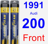 Front Wiper Blade Pack for 1991 Audi 200 - Assurance