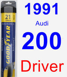 Driver Wiper Blade for 1991 Audi 200 - Assurance