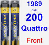 Front Wiper Blade Pack for 1989 Audi 200 Quattro - Assurance