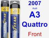 Front Wiper Blade Pack for 2007 Audi A3 Quattro - Assurance