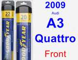 Front Wiper Blade Pack for 2009 Audi A3 Quattro - Assurance