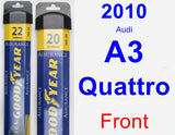 Front Wiper Blade Pack for 2010 Audi A3 Quattro - Assurance
