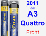 Front Wiper Blade Pack for 2011 Audi A3 Quattro - Assurance
