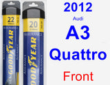 Front Wiper Blade Pack for 2012 Audi A3 Quattro - Assurance