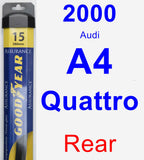 Rear Wiper Blade for 2000 Audi A4 Quattro - Assurance