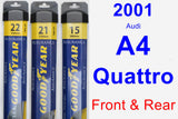 Front & Rear Wiper Blade Pack for 2001 Audi A4 Quattro - Assurance