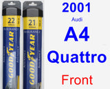 Front Wiper Blade Pack for 2001 Audi A4 Quattro - Assurance