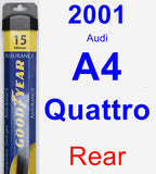 Rear Wiper Blade for 2001 Audi A4 Quattro - Assurance