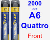 Front Wiper Blade Pack for 2000 Audi A6 Quattro - Assurance
