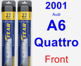 Front Wiper Blade Pack for 2001 Audi A6 Quattro - Assurance