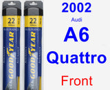 Front Wiper Blade Pack for 2002 Audi A6 Quattro - Assurance