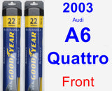 Front Wiper Blade Pack for 2003 Audi A6 Quattro - Assurance
