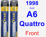 Front Wiper Blade Pack for 1998 Audi A6 Quattro - Assurance