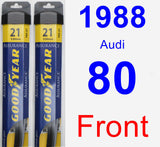 Front Wiper Blade Pack for 1988 Audi 80 - Assurance