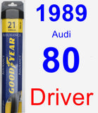 Driver Wiper Blade for 1989 Audi 80 - Assurance