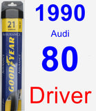 Driver Wiper Blade for 1990 Audi 80 - Assurance