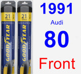 Front Wiper Blade Pack for 1991 Audi 80 - Assurance