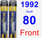 Front Wiper Blade Pack for 1992 Audi 80 - Assurance
